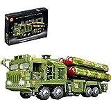 ZJLA Technic - Juego de construcción de tanques, 1048 piezas militares antiaéreos misiles tanque camión modelo de construcción compatible con Lego Technic