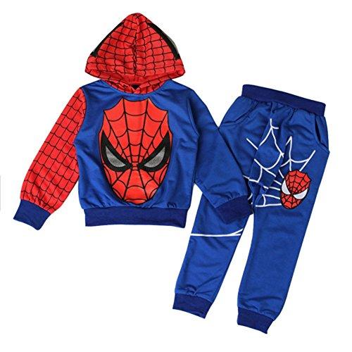 [Bekleidungsset Junge] 2 pcs Sweatshirt + Hose Kinder Kapuzenpullover Kinderanzug Jungen Babyanzug Junge Anzug Kinder Kleikind