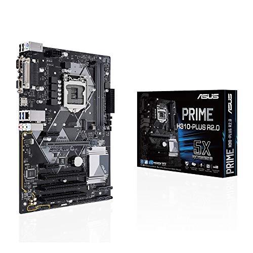 ASUS Prime H310-PLUS R2.0 Scheda Madre Intel H310 con Connettori Aura Sync RGB, DDR4 2666 MHz, M.2, HDMI, SATA 6 Gbps e USB 3.1 Gen 1