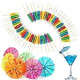 Decoración Papel De Paraguas Bar Decoración Papel De Cóctel Decoración De Fiesta De Bar De Cócteles Decoración De Palitos Cóctel Decoración Sombrilla Vara De Bambú Verano Partido Bar Restaurante 50