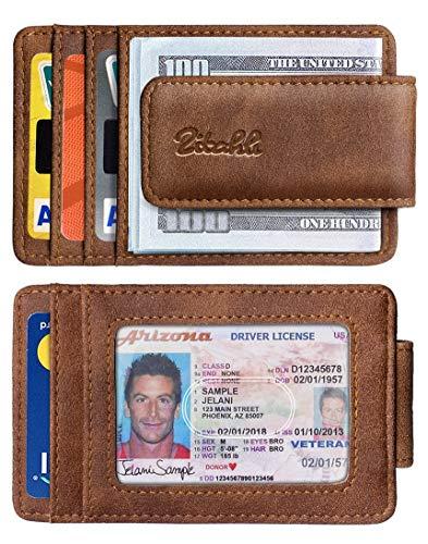 Zitahli Money Clip Wallet For Men,Front Pocket Card Holder Slim Wallet With Strong Magnetic,RFID Blocking&Anti-magnetic