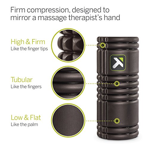 Trigger Point Foamroller Grid, Black, 33 x 14 cm, 3700006350013 - 3