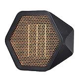 Decdeal - Minicalefactor cerámico silencioso, estufa eléctrica portátil de bajo consumo, calor en 3 segundos, retardante de llama, protección contra sobrecalentamiento