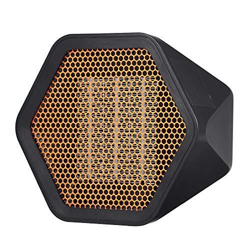 Decdeal Mini Termoventilatore Ceramico Silenzioso - Stufa Elettric Basso Consumo Portatile,3 Secondi di Calore/Ritardante di Fiamma/Protezione da Surriscaldamento