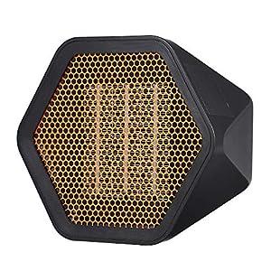 Decdeal - Mini calefactor cerámico silencioso – Estufa eléctrica de bajo consumo portátil, 3 segundos de calor / retardante de llama / protección contra sobrecalentamiento