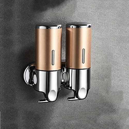 QHLOM Distributore di Sapone per Doccia Dispenser a Muro Manuale Manuale Dispenser Manuale Manuale Addominali La Pompa del Sapone Materiale è Adatta per Molte Occasioni (Color : Golld Double)
