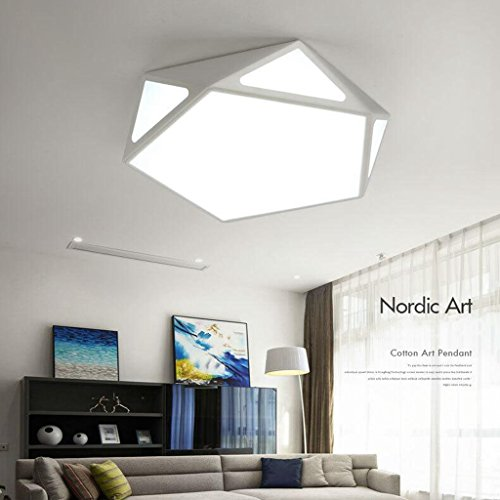 BiuTeFang conduit plafonnier lampe de chambre salon lampe pour enfants nordique éclairage de restaurant géométrie plafond lampes 52cm 36W