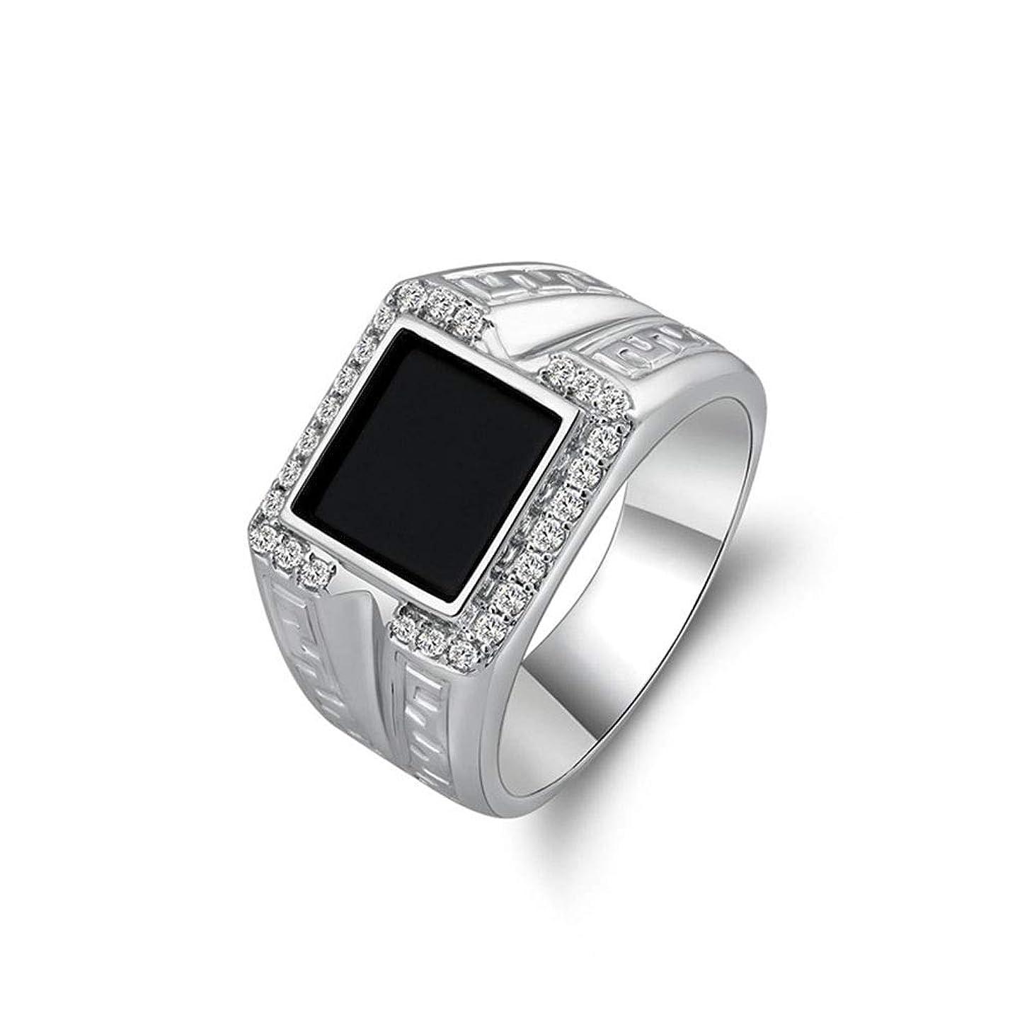 肉の医薬思われるJPAKIOS 男性のための925の純銀製の宝石類のステンレス鋼リング (色 : ホワイト)