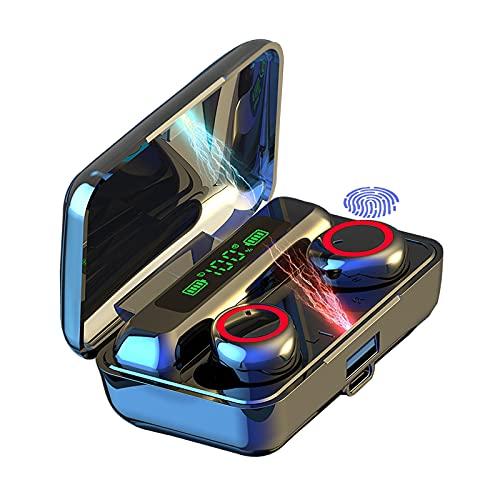Auriculares Bluetooth, 5.1 Auriculares Inalámbricos HI-FI Reducción Ruido Micrófono Alta Definición, IPX7 Wireless Earbuds Control Táctil, Wireless Earphones con Estuche de Carga 24 Horas
