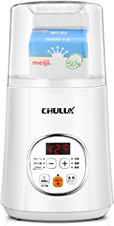 CHULUX ヨーグルトメーカー 自動メニューあり (PSEマーク取済) 発酵器 牛乳パックのままで作れ 温度調節25~60℃ タイマー(1~99H) 付属(専用容器、水切りボウル、計量カップ、スプーン、牛乳パック用ふた)