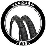Vandorm MTB Slick Tyres 26' x 1.95' City Slick Mountain Bike Slick Pair of Tires