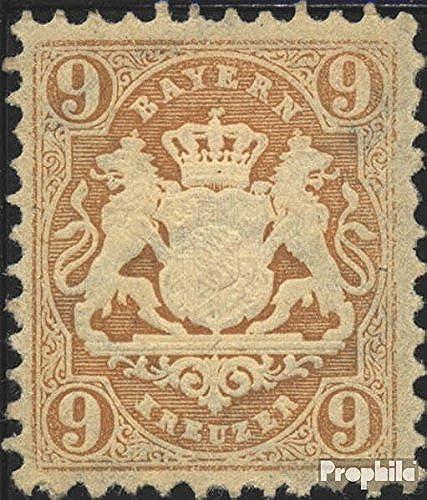 Bavière 28X Exemplaire Normal 1873 Etat Emblem (Timbres pour Les collectionneurs)