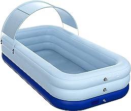 piscina hinchable jacuzzi Piscina Hinchable Para Niños Adultos | Piscina Lounge Familiar Rectangular De Tamaño Completo | Actividades Acuáticas En La Piscina Infantil De Verano En El Patio Trasero