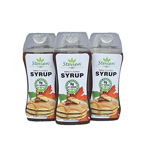 Stevien Keto Sugar Free Maple Syrup  Vegan  Low Carb  Gluten Free  Low Calorie  Sweetened with Organic Stevia 1
