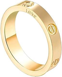 COCOBOY 4mm Love Ring Classic Fashion Screw Ring - Lifelong Love You Teen Boy Girl Couple Friends Birthday Graduation