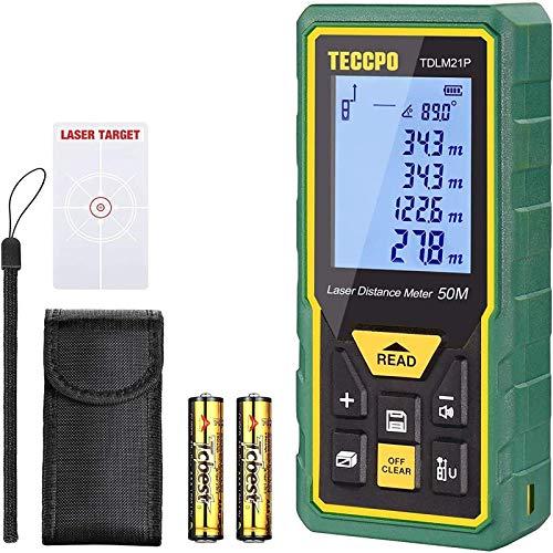 Télémètre laser 50M, Mesure laser TECCPO, Décoration intérieure, Capteur Électronique...