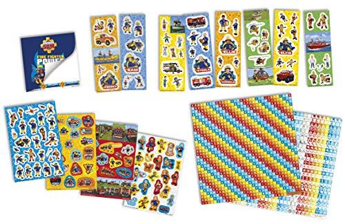 Creatieve set – Brandweerman Sam – Sticker Box 12R + 2S + Boek, Stickers meer dan 1000 met notitieboek
