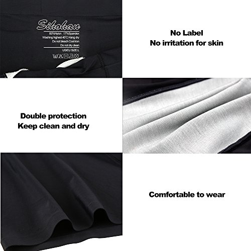 SIHOHAN Mens Boxers,4 Pack Briefs Micro Modal Extremely Soft Fabric Polyester Shorts Trunks (XXL(44-46), Black)(Size: XXL(42-44))