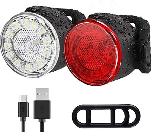 Luces Bicicleta Kit, Impermeable LED Luz Bicicleta,...