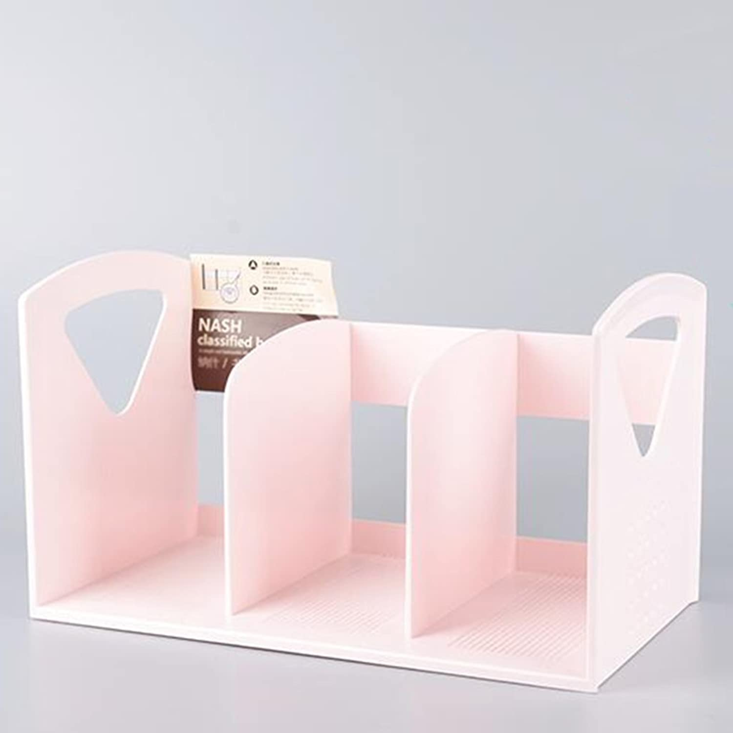 Bookcases & Ladders Bookshelf Simple Bookshelf No Need to Install Plastic One time molding Strong Sturdy 33.3  19  18.8cm