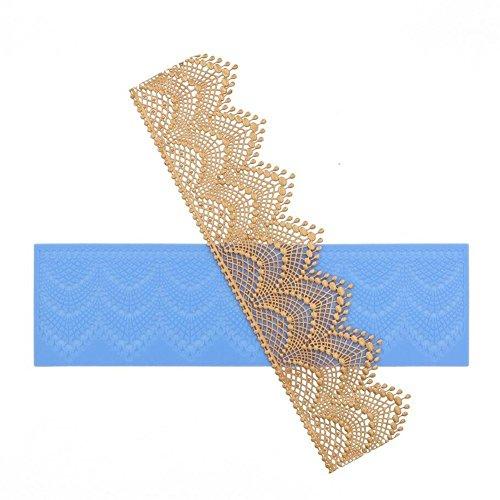 ValinkSilikon-Form für Torten-Bordüre, Krone, Spitze, Dekoration, Hochzeit, Kuchenfondant-Zubehör, Cupcake, Kuchendekoration, 40 x 12 cm