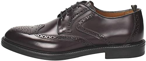 Rossi Stringata In Pelle Bordeaux, Bordeaux, 44