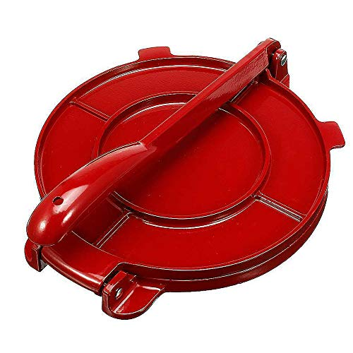 Tortilla de aleación de Aluminio, Mango Plegable, Herramienta de harina para Hornear, maíz, Herramientas para Tartas, Accesorios de Cocina (Rojo, 6.5 Pulgadas)