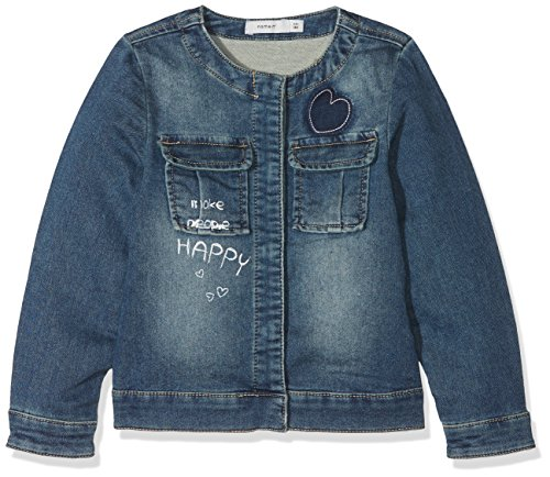 NAME IT Baby-Mädchen NMFADEA SWE DNM 2026 Jacket Jacke, Grau (Medium Blue Denim Medium Blue Denim), 92