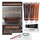 Brown Leather Repair Kits for Couches - Vinyl Repair Kit, Leather Repair Kit - Leather Scratch Repair for Refurbishing for Upholstery, Couch, Boat, Car Seats