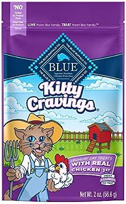 Blue Buffalo Cat Treats, 2 oz (Pack of 12), Kitty Cravings Crunchy Chicken