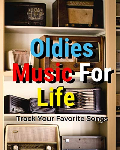 Oldies Music For Life: Blank Music Sheet Notebook   Music Log Book Playlist Logbook Keep Track of Your Favorite Songs, Tracks, Artists, Albums   Review Playlist Diary Journal   Notebook for Tracking