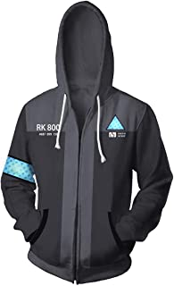 3D Detroit Fashion Cosplay Hoodie Jacket Costume
