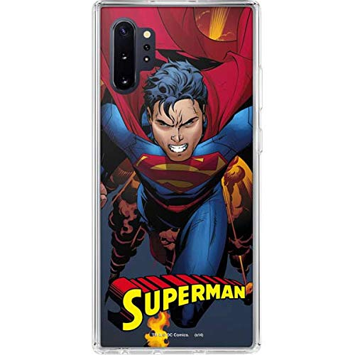 Skinit Clear Phone Case Compatible with Galaxy Note 10 Plus - Officially Licensed Warner Bros Superman on Fire Design