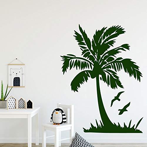 BailongXiao Kokosnuss entfernbarer PVC Wandaufkleber für Kinderzimmer Dekoration Aufkleber Wandbild Haus Dekoration 45x58cm