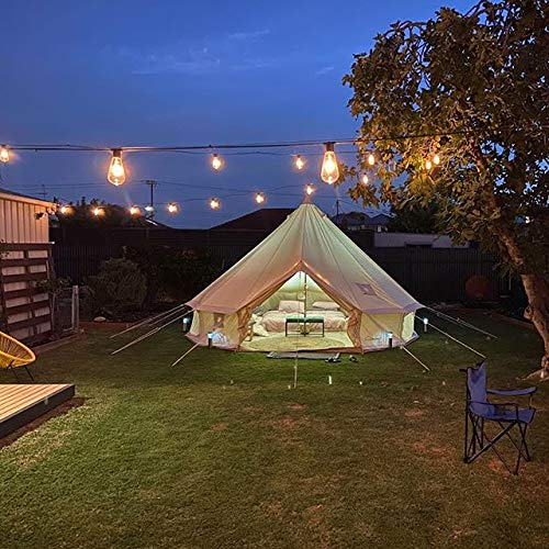 DANCHEL OUTDOOR 4M Cotton Bell Tent with Two Stove Jackets (Top and Wall), 13ft