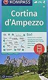 55 Cortina D'ampezzo 1: 50.000: 5in1 Wanderkarte 1:50000 mit Panorama, Aktiv Guide und Detailkarten inklusive Karte zur offline Verwendung in der KOMPASS-App. Fahrradfahren. Skitouren. (Wanderkarten)