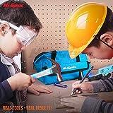Hi-Spec 18-teiliges Kinder-Werkzeugset mit echten Handwerkzeugen, einschließlich Sicherheitbrille und Spielzeughelm – Alles in einer praktischen Aufbewahrungstasche