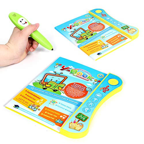 Dušial Smart Talking Book for Kids Early Learning Development Learning Machine with Pen, Electronic Smart Logic Learning Pen Phonetic Learning Parent Child Interaction Pen Book Toys