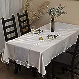 UKOBÁN Deko Tischläufer grau weiß/Wohnzimmer Dekoration/Boho Retro Tischdecke Tischset/Schlafzimmer Küche / 30x150 cm - 5