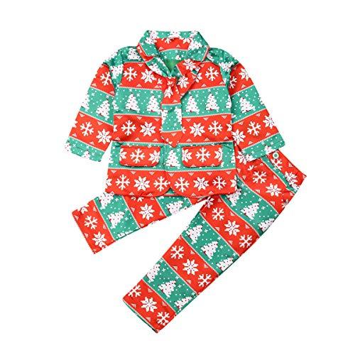 Little Boy Christmas Formal Dresswear Suit Set Blazer Jacket Pants Tie Gentleman Outfit (Green - Xmas Tree, 6-7 Years)