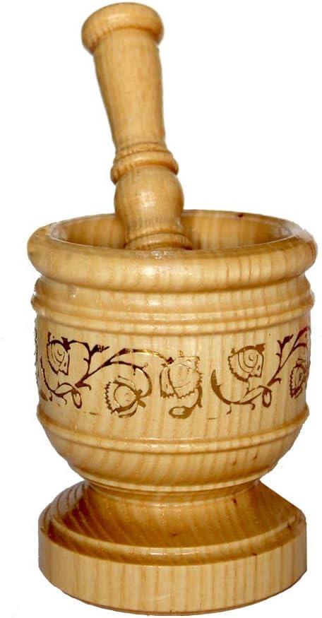 Gorgeous Wood Mortar and Pestle Set Press Phoenix Mall Ginger Garlic Crush Handmade