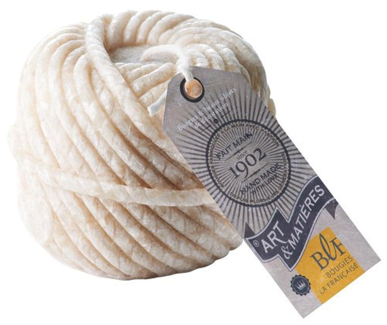 豊富時代知覚するブジ?ラ?フランセーズ 本物の毛糸玉のような ウールボールキャンドル ホワイト
