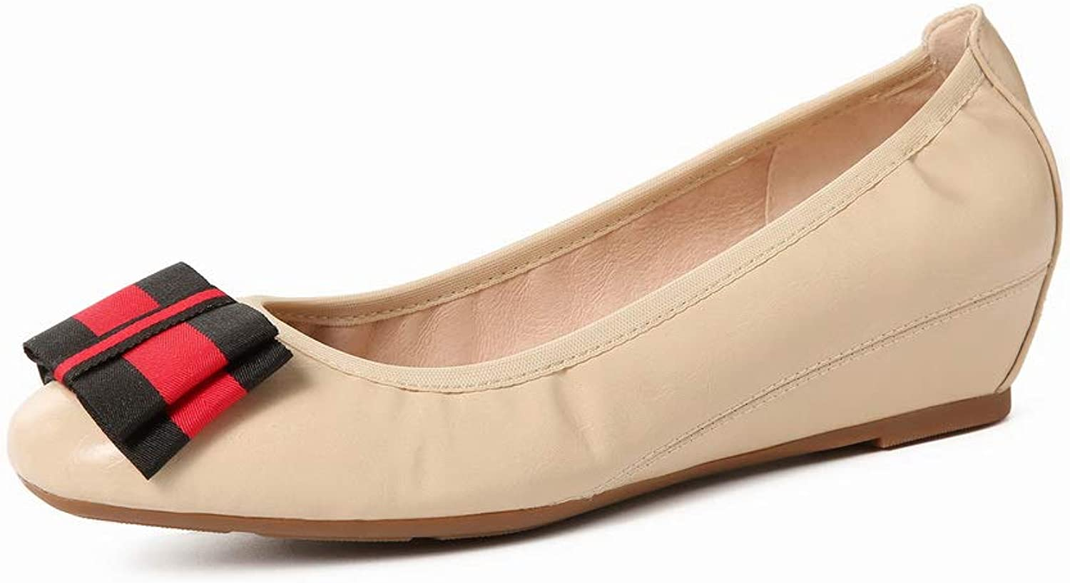AdeeSu Womens Stripes Comfort Charms Leather Pumps shoes SDC05964
