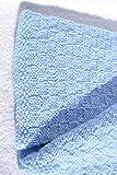 Babydecke Decke Strickdecke Taufdecke pastell blau hellblau handgestrickt gestrickt