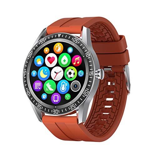 DZX Nuevo Reloj Inteligente de 1.28 Pulgadas de Largo Reloj Inteligente N70 Pantalla Redonda Llamada Bluetooth IP67 SmartWatch Impermeable Hombres y Fitness Tracker,D