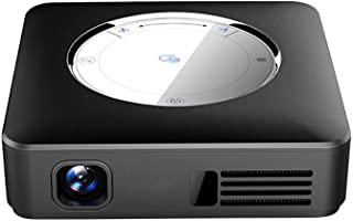 QianBaiHui Portable Projector Android 7.1 Mini Micro LED Cinema Video HD DLP Projector Bluetooth Battery WiFi Business Entertainment for iPhone/Android/Laptop Advanced Processor