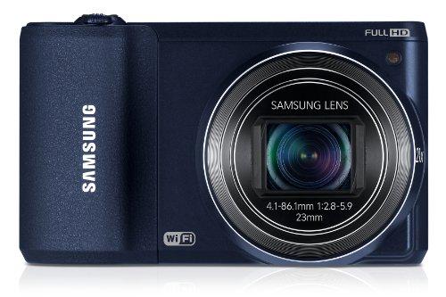 "Samsung WB800F - Cámara compacta de 16.3 MP (Pantalla de 3.0"", Zoom óptico 21.0X, estabilizador de Imagen), Cobalto"