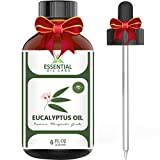 Eucalyptus Oil - Highest Quality Therapeutic Grade Backed by Research - Large 4 oz Bottle with...