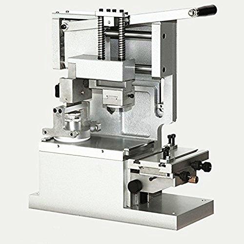 SY-120imprimante Manual Pad de bureau, DE machine d'impression ronde, d'encre d'imprimante, déplacer Tampon d'encre d'impression machine (avec de l'encre de football, Blanc Couleur)