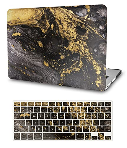 """LuvCase 2 in 1 Laptop Case Compatible with MacBook Pro 13""""(2016-2021) +/- Touch Bar A2338 M1/A2251/A2289/A2159/A1989/A1706/A1708 Hard Shell Cover & Matching Keyboard Cover (Portoro Marble)"""